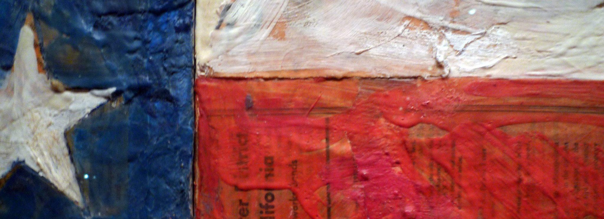 Jasper Johns, Flag (detail)